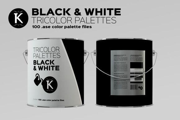 Great Black & White Tricolor palettes