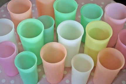 tupperware pastels ... they seemed to be in every home with children