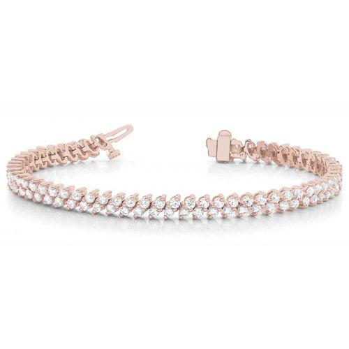 Diamant Armband 4.00 Karat aus 750/18K Rosegold