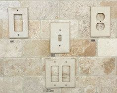 Get switchplates and outlet covers that match your travertine backsplash!