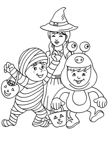 mummy monster and witch coloring page there are many free mummy monster and witch coloring page in kids costumes coloring pages this lovely mummy
