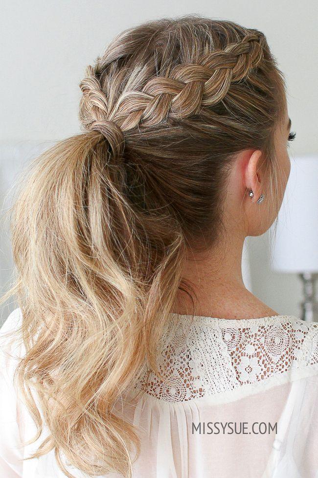 41 Best Dutch Braid Inspired Hairstyles In 2020 Ponytail Hairstyles Easy Braided Ponytail Hairstyles Long Hair Styles