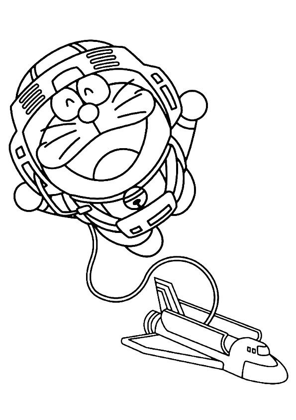 Doraemon Going On A Space Adventure Barbie Coloring Pages