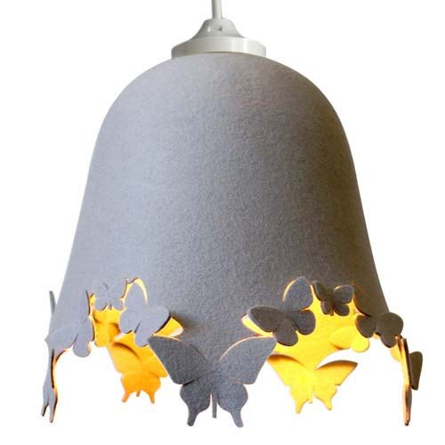 DELIGHT LACIE Wool Felt Butterfly - LAMPSHADE - cream, grey or other colours on Etsy, £39.18