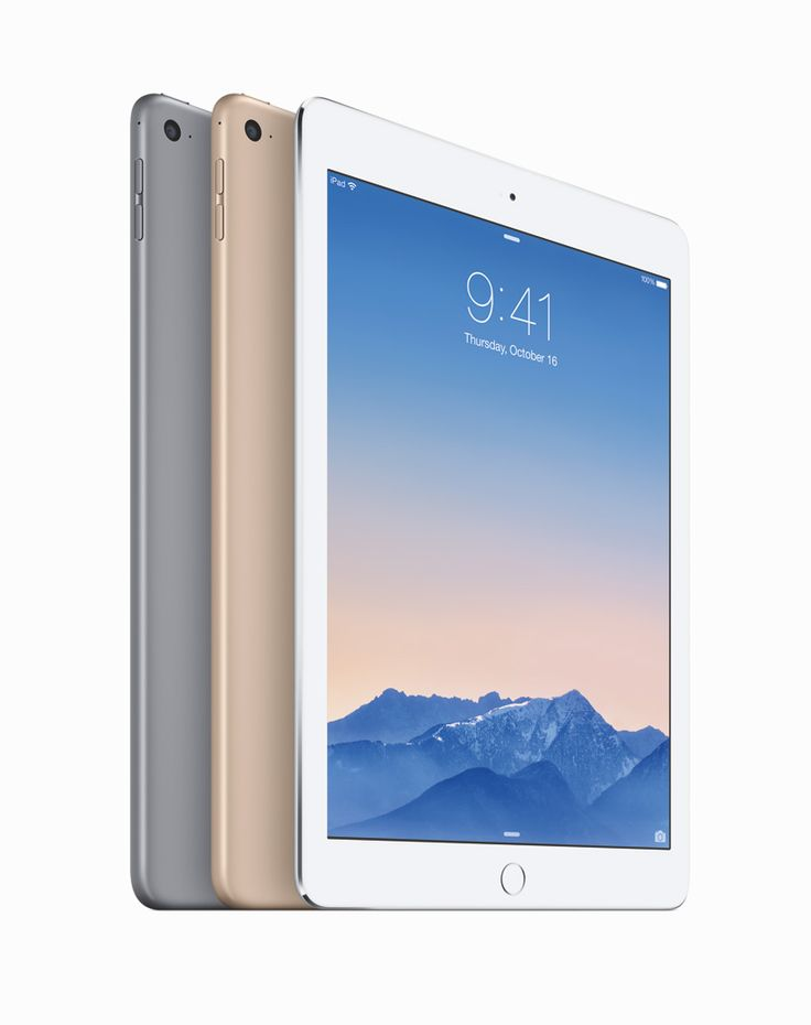 thinner apple iPad air 2 and iPad mini 3 features touch ID fingerprint sensors