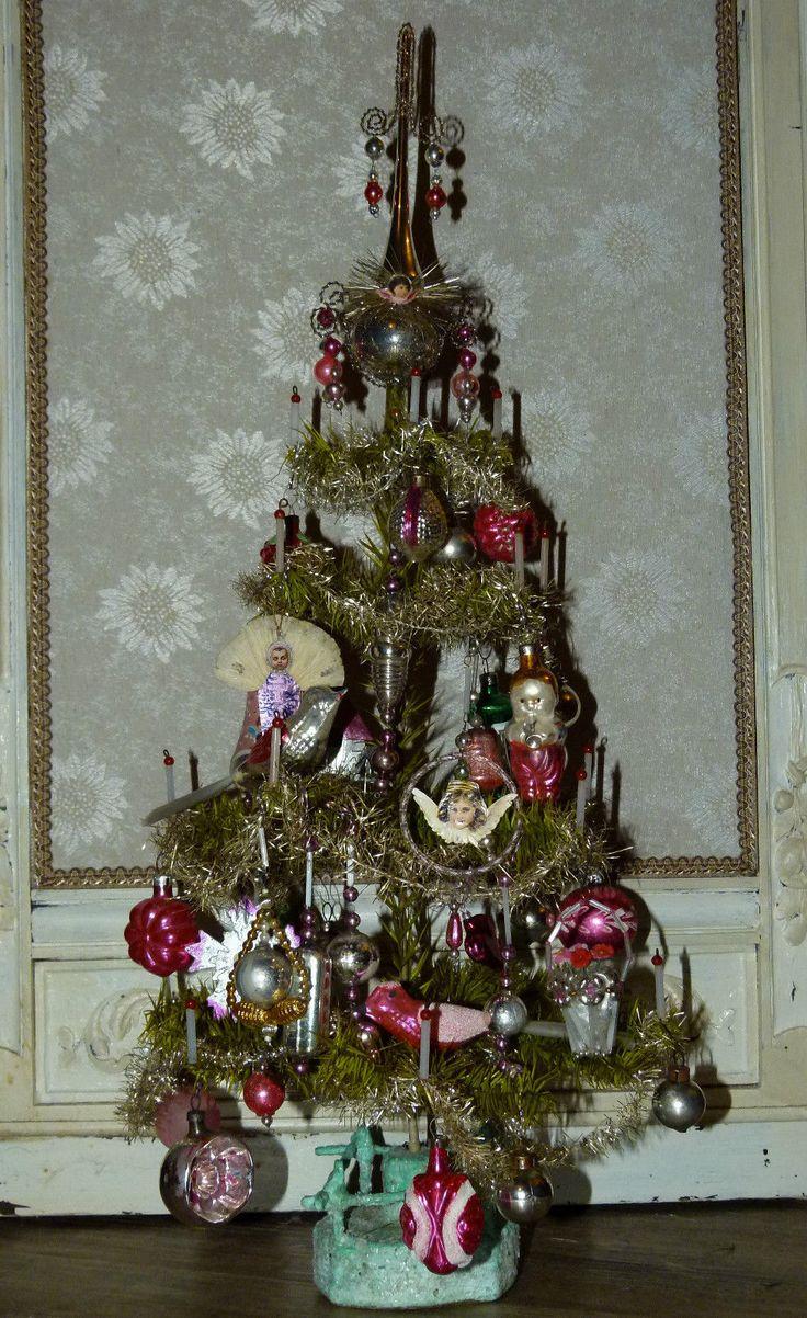 Vintage christmas trees and putzes 1910 - X Mas Vintage Christmas Treesjulpastel