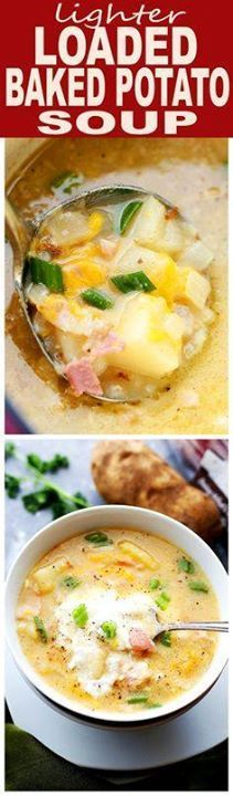 Lighter Loaded Baked Lighter Loaded Baked Potato Soup -...  Lighter Loaded Baked Lighter Loaded Baked Potato Soup - Lightened-up yet just as delicious Loaded Baked Potato Soup featuring bacon and cheese sans butter and cream! #EatGoodCleanFun #ad Recipe : http://ift.tt/1hGiZgA And @ItsNutella  http://ift.tt/2v8iUYW