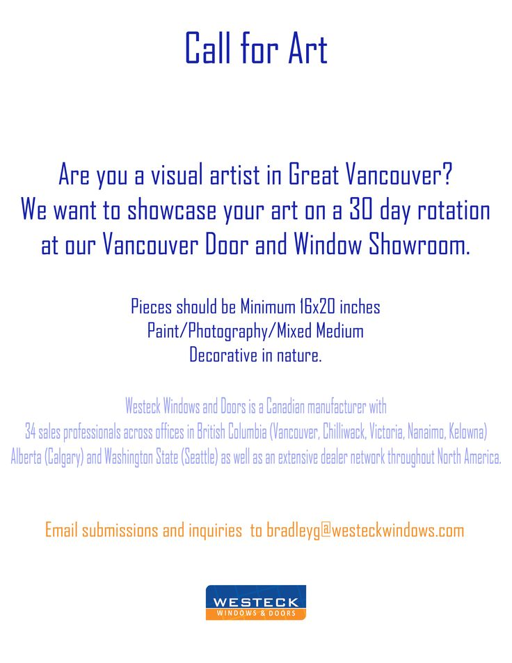 We hope to see your art in our space!