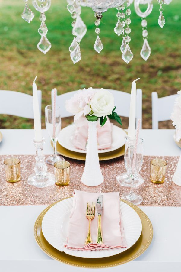 bridal shower themes for spring%0A Pink   Gold Bridal Shower Brunch Inspiration