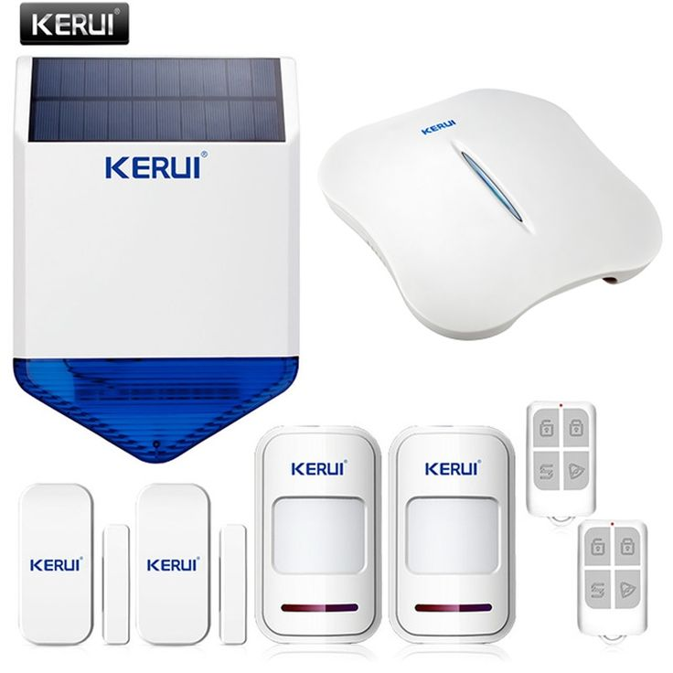 (123.99$)  Watch here - http://ai9sn.worlditems.win/all/product.php?id=32800619421 - KERUI WiFi PSTN Burglar anti-theft Home Security Alarm System APP Control + outdoor alarm wireless solar siren Double Protection