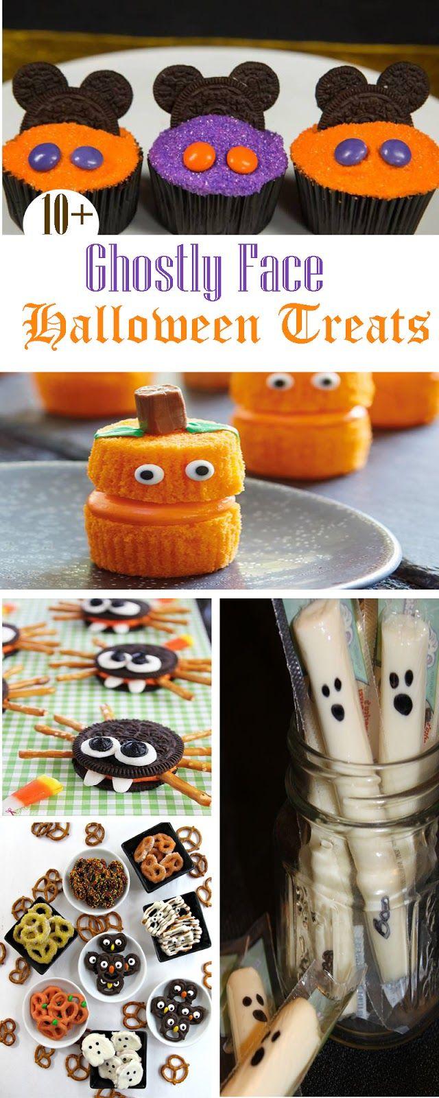 10+ Ghostly Face Halloween Treats