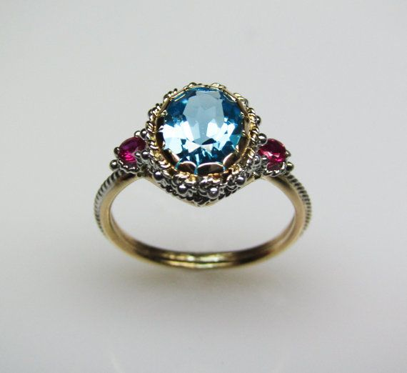 Blue topaz & rubies--ok, now this is gorgeous.