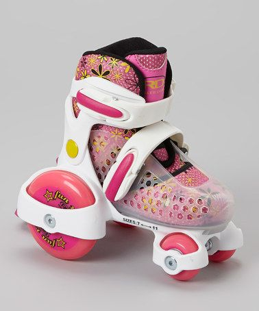 Look what I found on #zulily! Fuchsia & White Fun Roll Roller Skates by Roller Derby #zulilyfinds