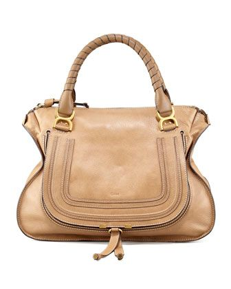 Marcie Large Shoulder Bag, Nut by Chloe at Neiman Marcus.