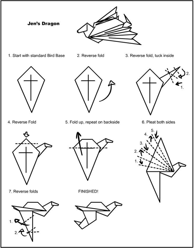 Origami Dragon Instructions Printable