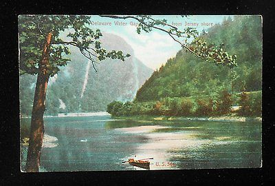 1910s From Jersey Shore Man Rowboat Lamb's Souvenir Store Delaware Water Gap PA