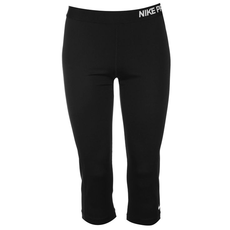 Nike Pro Capri Ladies Get a comfortable fit with the Nike Pro Capri Ladies thanks to the elasticated waistband and stretch fit design, along with the Dri-Fit fabric which helps to pull moisture away from the skin to keep you cooler and drier for longer. These Ladies Pants provide a great look with t