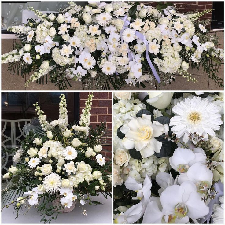 Holling In The Team Didnu0027t Amazing Job To Honor This Loved Lady. The Casket  Spray Is Almost 6ft. Long. #florist #flowers #flowershop ...