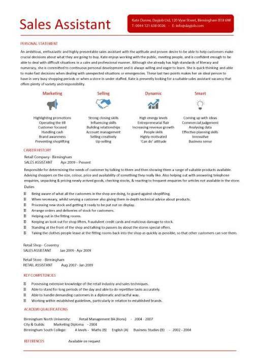 luxury retail resume template