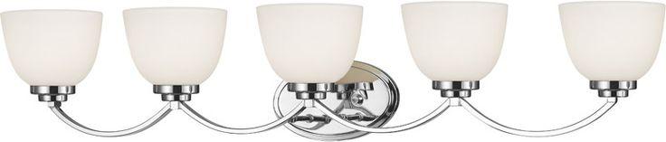 Z-Lite 443-5V-CH 5 Light Vanity Light Ashton Collection Matte Opal Finish