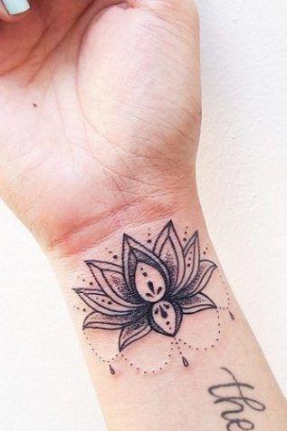460bbb121ecdb 10 BEST LOTUS FLOWER TATTOO IDEAS TO EXPRESS YOURSELF | Beautiful Lotus  Tattoo On A Wrist #wristtatto #blacktatto