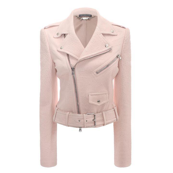 ALEXANDER MCQUEEN|Jackets & Coats|Cropped Leather Biker Jacket