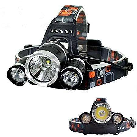 Super Bright LED Headlamp 4 switch modes Waterproof