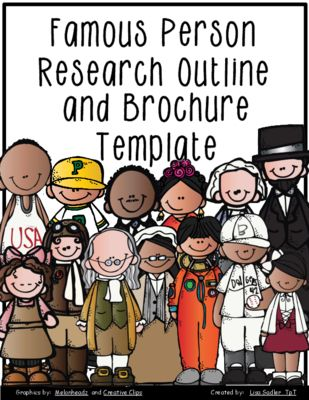 Famous Person Research Outline Form and Brochure Template