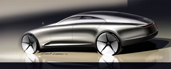 Mercedes CLS by Ewoud Luppens, via Behance