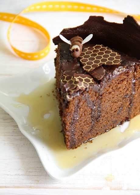 Chocolate-Honey Cake: Chocolate and Honey? Woah. This cake is fit for the BEES!