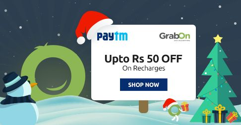 Christmas Special Offer @ Paytm. Get Rs 50 #Cashback On Recharge & Bill Payments http://www.grabon.in/paytm-coupons/ #PaytmKaro