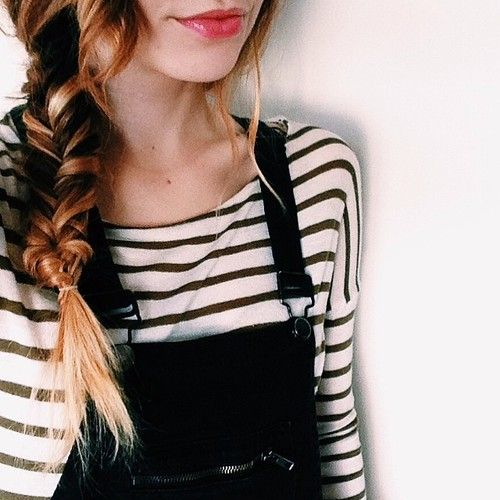 Side braid and stripes