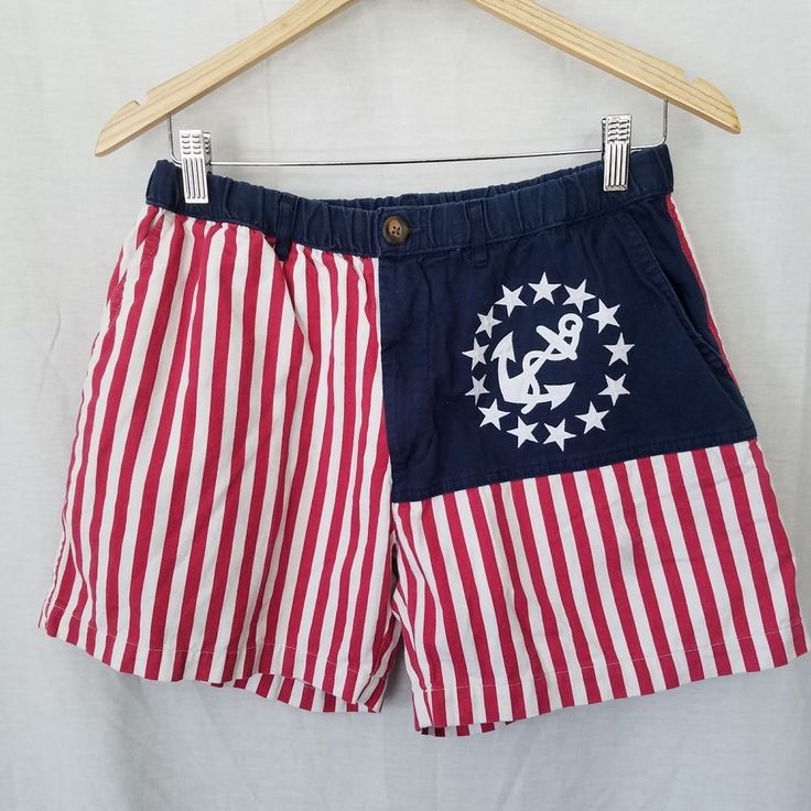 Chubbies Mens Large 'Mericas American Flag Shorts Anchor Nautical Retro Vintage   Clothing, Shoes & Accessories, Men's Clothing, Shorts   eBay!