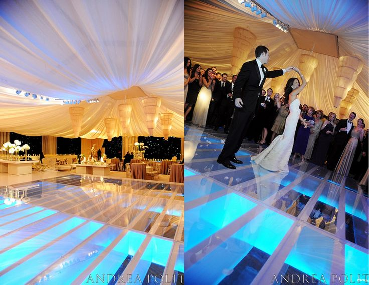 Covered swimming pool/dance floor? Check! Seating from POSH? Check!