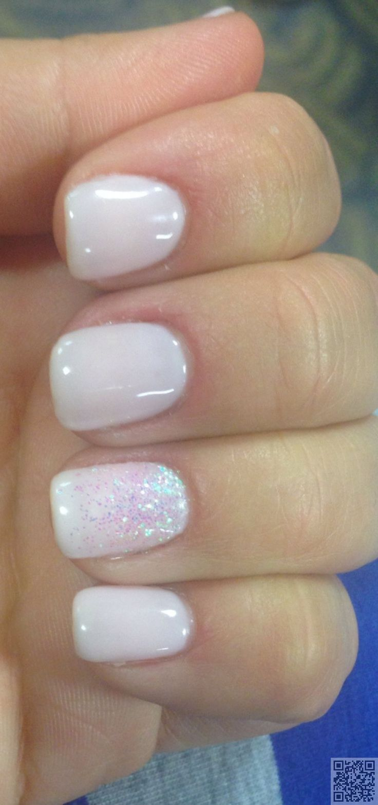 16. Soft #White Color - White Hot #Nails for #Summertime ... → Nails #Ombre