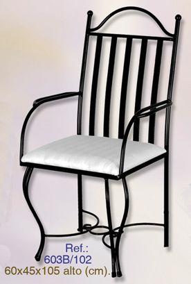 17 mejores ideas sobre sillas de hierro forjado en for Modelos de sillas de hierro