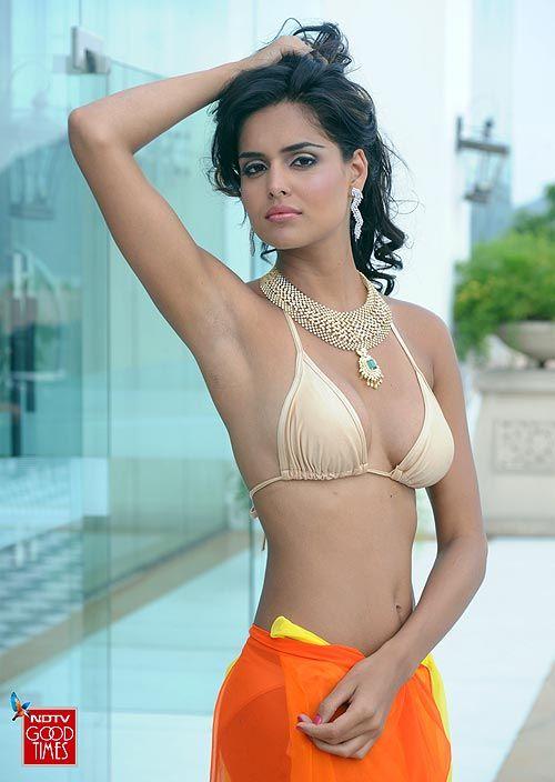 Sexy Bikini Model By The Beach Stock Photo