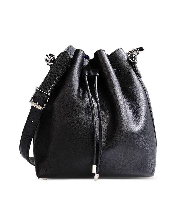 Proenza Schouler Black Leather Bucket Bag
