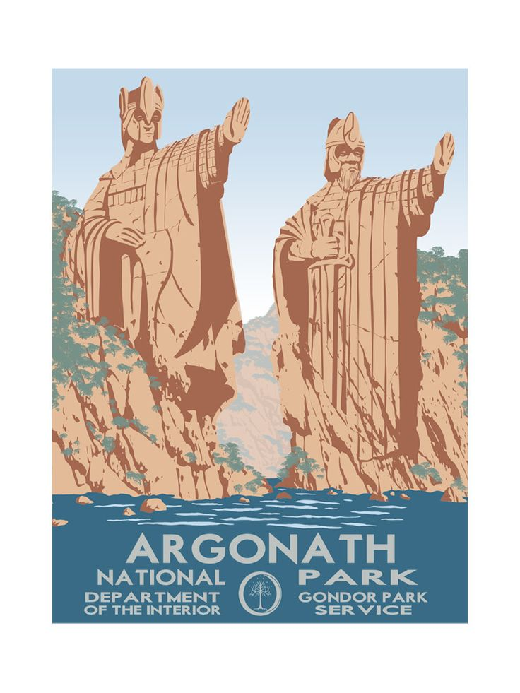 Travel Middle Earth: Argonath National Park