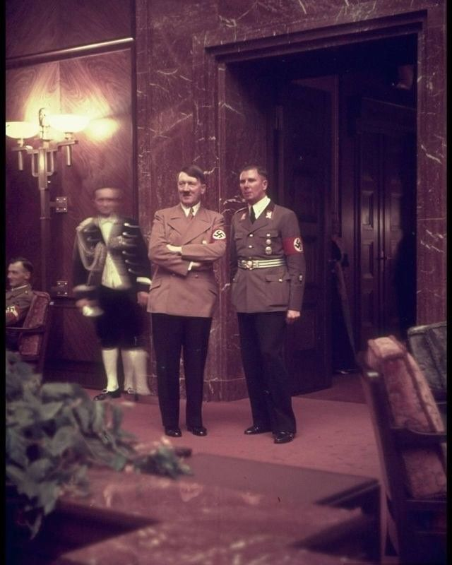 "867 Likes, 16 Comments - History-War-WWII (@historywarblog_ww2) on Instagram: ""Hitler and Bormann at party reception at Fuhrerbau,25 February 1939 #worldwar2historyandinstagram…"""