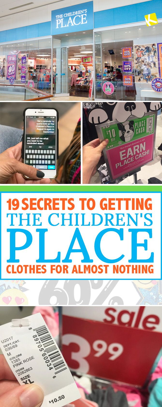 Get up to 90% off on every order from The Children's Place with our best shopping tricks.