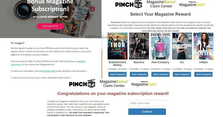 "WOW! $5 Cash Reward for PINCHme Members! Are You a PINCHme Member? Have You Been Getting Emails for Free Magazine Subscriptions From Them? Would You Rather Have $5 Cash, Than Another Magazine Subscription? There is an $5 Alternative Reward That You Can Claim When You Receive One of These Emails. Follow the Instructions Below for Claim … Continue reading ""WOW! $5 Cash Reward for PINCHme Members!"""