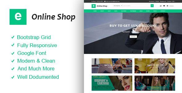 E Online Shop - Ecommerce HTML Template  -  http://themekeeper.com/item/site-templates/e-online-shop-ecommerce-html-template