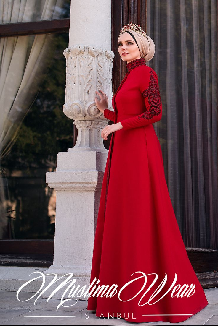 Red Black Mehendi Dress – Muslima Wear