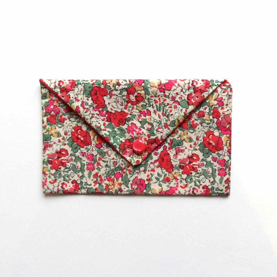 envelope clutch in liberty print