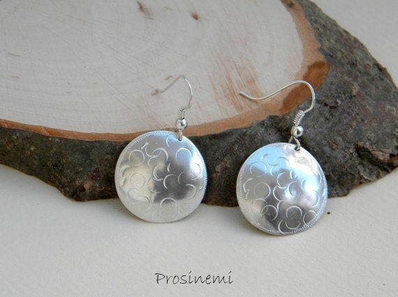 Silver circle earrings dangle earrings fall earrings  by prosinemi, €25.00