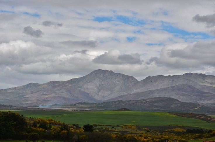 Area between Kleinmond and Hermanus - mountains of Hemel & Aarde Valley is on the horison.