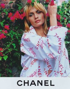 Amber Valletta shot by Karl Lagerfeld for CHANEL ss 1996.