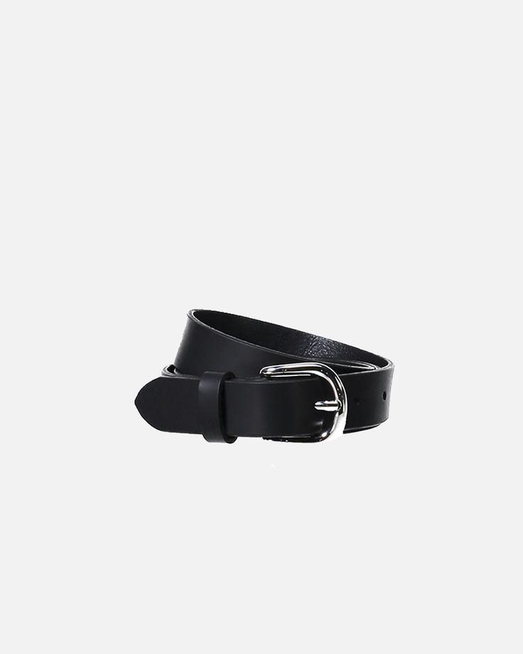 Zap Leather Belt - Black