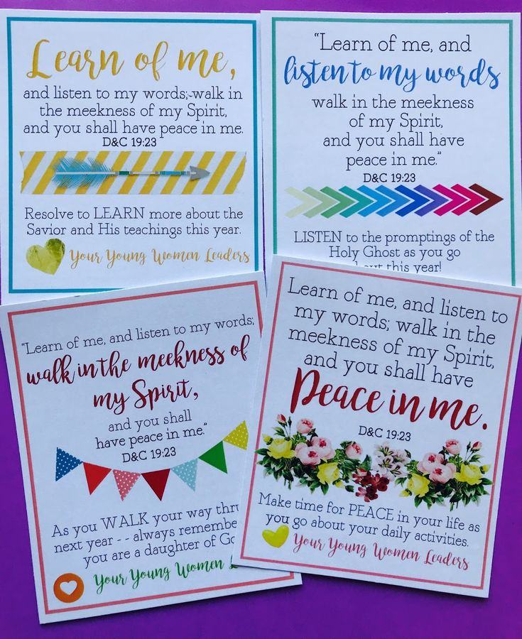PRINTABLES for the 2018 Peace in Me Mutual Young Womens Theme. Great for birthdays, New Beginnings, Girls Camp, etc!